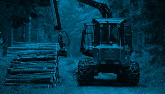 Pistoni idraulici per spaccalegna e macchine forestali